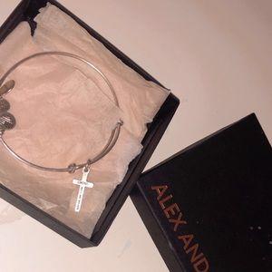 Cross Alex and Ani bangle bracelet